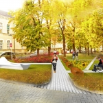 Urban Open Spaces_Urban Design of Helth space-Clinical Cente in Srbija